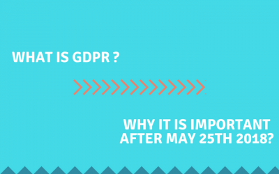 What is GDPR? and Why it is important after May 25th?