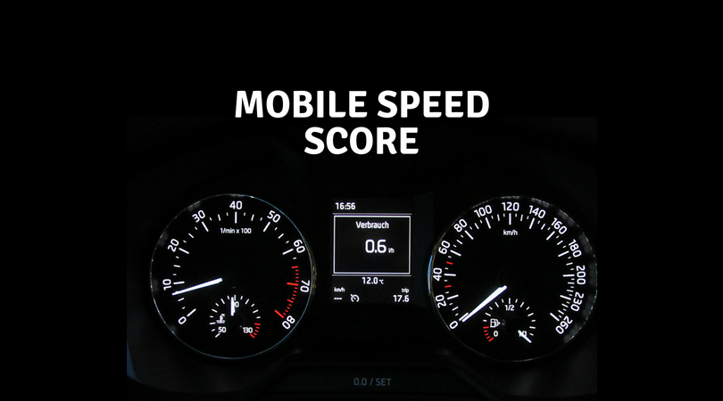 "How will ""Mobile Speed Score"" effect the different websites?"
