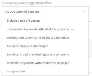 MOZ display keyword page