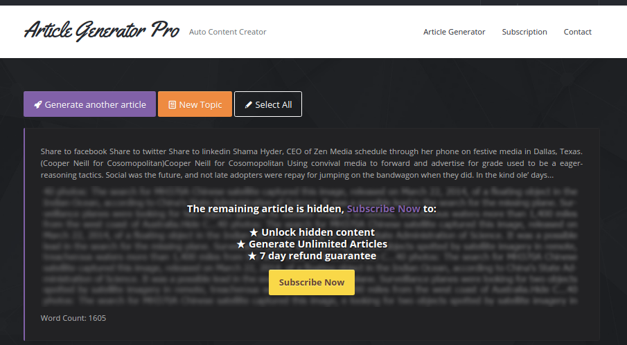 article in article generator image