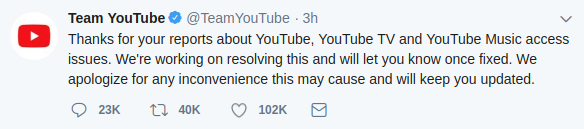 Youtube Down: is our data safe in the hands of Social media?