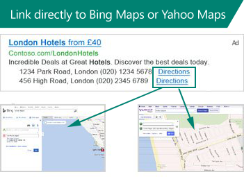 Bing Location extension